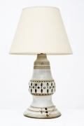 Georges Pelletier's ceramic table lamp, full back view