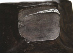 Alexandre Noll's Ebony bowl, detailed view of signature on bottom