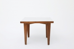 Pierre Jeanneret's square table straight front view