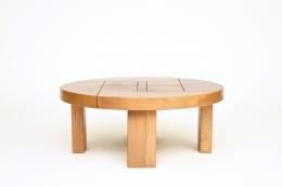 Maison Regain's coffee table, full straight image, turned