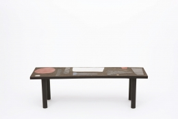 Pierre and Vera Székely's ceramic coffee table, full straight view from above