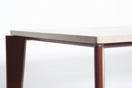 Jean Prouvé's dining table, Flavigny Model, detailed view of legs