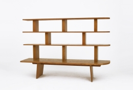 Charlotte Perriand's bookshelf, straight view