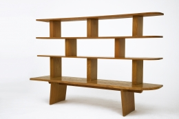 Charlotte Perriand's bookshelf, full straight view