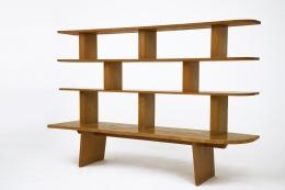 Charlotte Perriand's bookshelf, full straight view