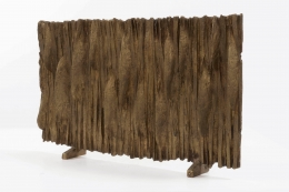 Algae Liberaki's bronze sculpture diagonal front view