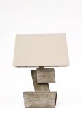 Marius Bessone ceramic table lamp back view