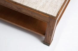 Jacques Adnet coffee table marble detail