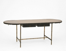 Jacques Adnet desk with sides open