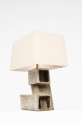 Marius Bessone ceramic table lamp side view