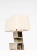 Marius Bessone ceramic table lamp side view
