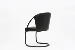 Jacques Adnet chair back view