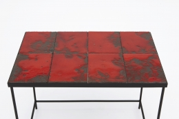 """Pierre Sabatier's """"Volvic Sang"""" table, detailed view of table top"""