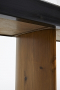 Charlotte Perriand's console for Maison de la Tunisie, detailed view of wooden leg