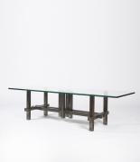 Marino di Teana's sculptural coffee table full diagonal view