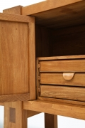 """Pierre Chapo's """"R16"""" sideboard detail of drawers"""