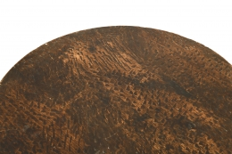 Charles Dudouyt's pedestal table, detailed view of table top texture