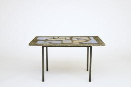Jacques Avoinet's coffee table, straight front view