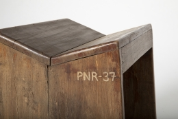 Pierre Jeanneret's stool, close up on the side