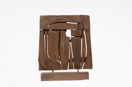 Ricardo Santamaria's wooden sculpture, full back view