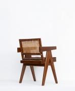 Pierre Jeanneret's Desk chair diagonal back view