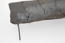 Annie Fourmanoir's ceramic coffee table, detailed view of table top