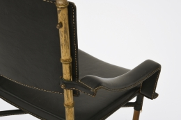 Jacques Adnet chair detail