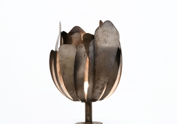 André Jean Doucin's table lamp full view with light on
