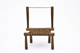 Gaston Castel's wooden chair straight front view