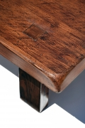 "Pierre Chapo's ""T08"" coffee table (special commission), detailed view of table top corner"