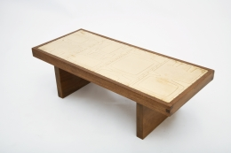 Jany Blazy's coffee table top diagonal view