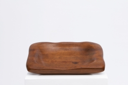 Alexandre Noll's mahogany bowl, full view from top