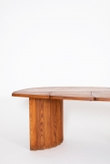 """Pierre Chapo's """"TGV"""" dining table, cropped close up view of the side of the table"""