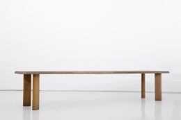 """Charlotte Perriand's """"Table a gorge"""" dining table, full diagonal view"""