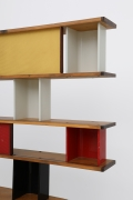 "Charlotte Perriand's ""Bibliothéque de la Maison de Tunisie"" bookcase, detailed view of shelving"