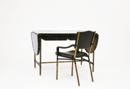Jacques Adnet chair and desk installation image