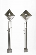 Magnousson's pair of floor lamps, diagonal and front view