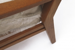 Jacques Adnet's armchair leg detail
