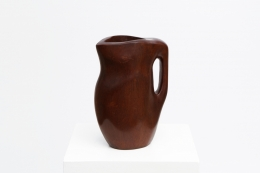 Alexandre Noll's mahogany pitcher, diagonal view from above