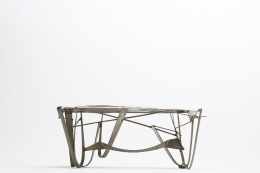 Albert Feraud's coffee table straight eye-level view
