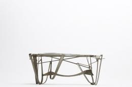 Albert Feraud's coffee table straight eye-level view