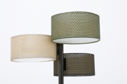 Pierre Guariche's floor lamp (edition Disderot) detailed image of shades
