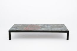 Baty's ceramic coffee table, full straight view