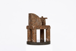 """Péter Pierre Székely's """"Cirque"""" sculpture, diagonal view"""