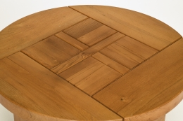 Maison Regain's coffee table, close up image of table top