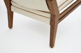 Jacques Adnet's pair of armchairs leg detail