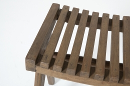 Pierre Jeanneret's pair of stools, detailed view of the seat