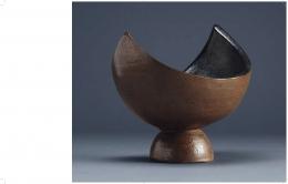 A screenshot from a page in the La Borne publication showing a sculptural ceramic vase by Jean et Jacqueline Lerat