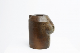 Yves Mohy's ceramic pitcher, full view from eye-level
