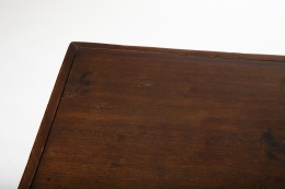 Pierre Jeanneret's square table, detailed view of table top